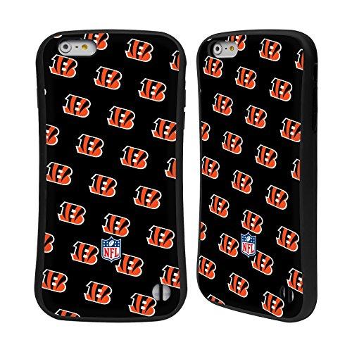 Ufficiale NFL LED 2017/18 Cincinnati Bengals Case Ibrida per Apple iPhone 5 / 5s / SE Pattern