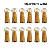 Flasche Lichter, Yigo 12cork-shape Bar LED Lichterkette für Wein Flasche Glas Decor Kupfer Draht DIY Lichter mit Schraubendreher für Party (Warm Weiß)