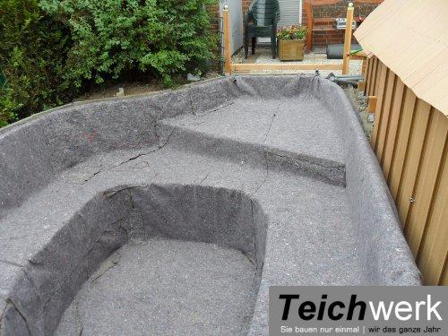 50 qm Teichvlies 300 g/qm | Premium Schutzvlies - 2 m breit x 25 m lang