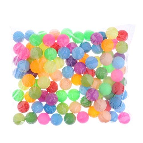 Sharplace Bunt Tischtennisbälle Ohne Aufdruck Trainingsbälle 40mm, 100er/Set