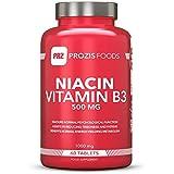 Prozis Niacine vitamine B3 pure en gélules (500 mg) - Complément de première qualité pour la croissance et la...