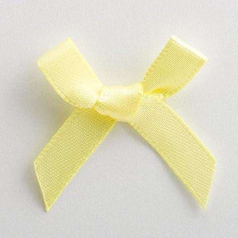 Fiocchi in raso–Confezione da 100–6mm 3cm, colore: Limone