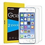 [2 Pack] iPod Touch  6th / 5th Generation Screen Protector, SPARIN [Tempered Glass] Screen Protector for Apple iPod Touch 5 / 6 with [9H Hardness] [Scratch Resist] [Crystal Clear] [Bubble Free Install], Lifetime Warranty