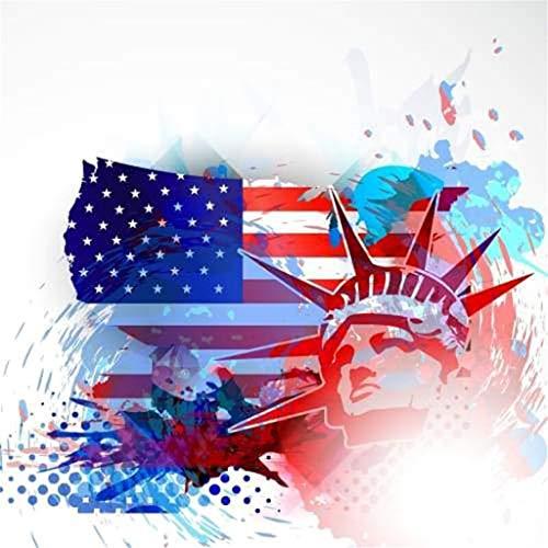 5D DIY Diamond Painting Cross Stitch, Decoration of House Living Room Freiheitsstatue American Flag Muster Diamant Set Full Stickerei Malerei Voll Crystal Strass (American Flag-bild)