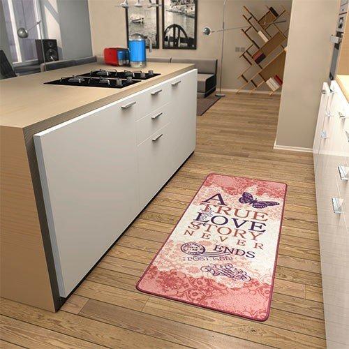 Küchenläufer A true Love Story in Rosa Teppichgröße: Läufer 67 x 180 cm