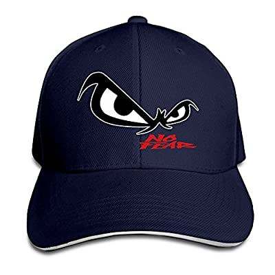 Hittings Unisex No Fear Owl's Eyes Sandwich Baseball Cap Navy