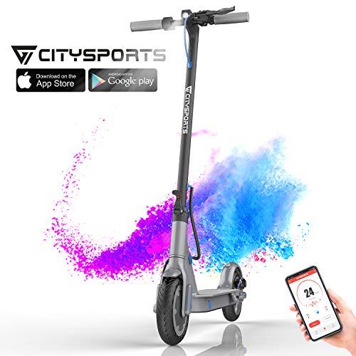 CITYSPORTS Elektroroller 8,5 Zoll, Faltbarer Elektro Scooter mit APP & Bluetooth, Batterie 7,5 Ah Langlebig, 350 W, Tretroller Erwachsene (HB-1)
