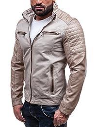 BOLF - Veste - Faux cuir - Fermeture éclair – EXTREME EX309 – Homme