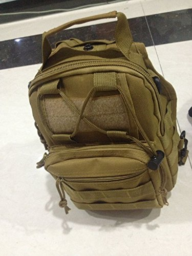 ZYT Minicassettiera tattico tasche multifunzione Pack esercito spalla ventilatore Messenger bag borsa da palestra Camo . black mud color