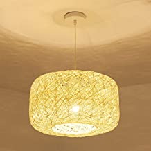 GQLB Pastorale Chrysantheme Kronleuchter Single Head 27 Kreative Gewebt Rattan Lampe LED Amerikanischen Dorf Personalisierte