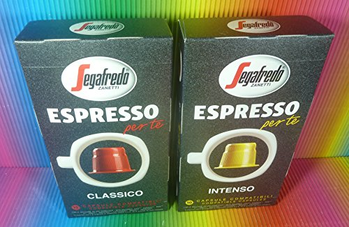 Order Segafredo Espresso Per Te Classico & Intenso 2 Box X 10 Capsules Compatible With Machines Inissia,prodigio,pixie,citiz,u,lattissima, by SEGAFREDO