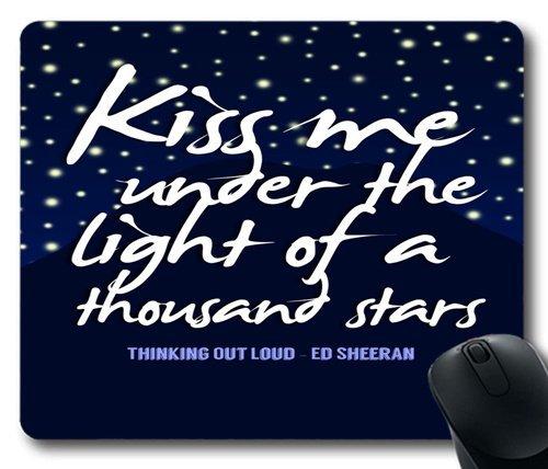 Ed Sheeran Zitate _ 013Personalisierte Custom Gaming Maus Pad Gummi Durable Computer Desk Stationery Zubehör Maus Pads für Geschenk, !color-06, 7