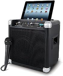 Ion Audio Tailgater Bluetooth Tragbares 50W Kompakt Lautsprechersystem mit eingebautem AM/FM Radio und Bluetooth Funktion für iPad/iPhone/Android