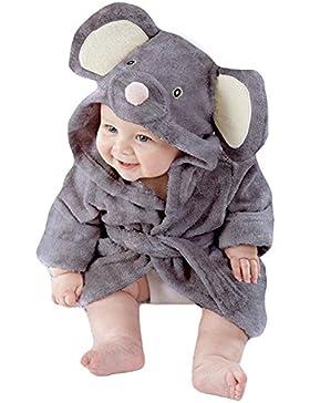 Tkria Bebés Niño Infantil del bebé Albornoces Albornoz Para Niños toalla con capucha Playa del baño de la de felpa...