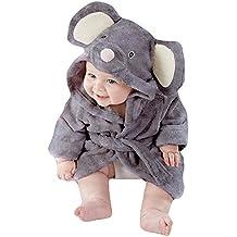 Tkria Bebés Niño Infantil del bebé Albornoces Albornoz Para Niños toalla con capucha Playa del baño de la de felpa batas pijamas camisón ratón 1 2 3 4 5 Año