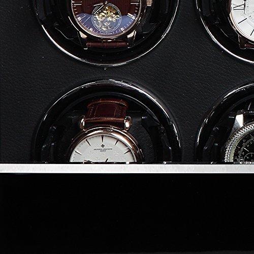 Modalo Unisex Zubehör Uhrenbeweger für 8 Automatikuhren verschiedene Materialien schwarz 3908113 - 4