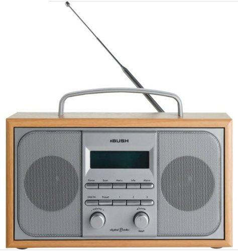 Holz Stereo-schränke (Bush DAB/FM-Stereo-Radio im Holz-Schrank)
