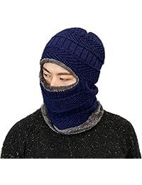 Boomly Autunno e Inverno Caldo e Spesso Multifunzione Cappello in Lana a  Maglia Sportivo Berretti Beanie Hat Sciarpa Maschera da Sci… ac69bd78e4dd