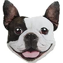 Cojín de velur con cara de mascotas (Bulldog Inglés)