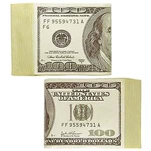 Liasse de dollars faux billets Billets verts de casino liasse d'argent soirée poker dollar soirée à thème billets de banque déguisement de carnaval accessoire