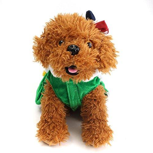 Imagen de ropa para perros, internet árbol de navidad mascota perro abrigo de gato ropa de suéter cachorro disfraces ropa linda verde, m
