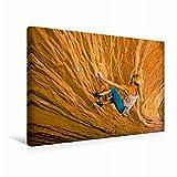 Premium Textil-Leinwand 45 cm x 30 cm quer Trendsport Bouldern - Fingerübungen an steilen Wänden | Wandbild, Bild auf Keilrahmen, Fertigbild auf echter Leinwand, Leinwanddruck