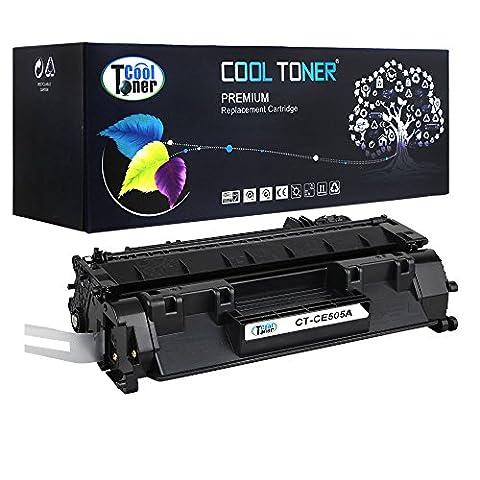 Cool Toner Compatible toner pour CE505A 05A cartouche de toner compatible pour HP LaserJet P2030 P2035 P2035N P2050 P2055D P2055DN P2055X Imprimante(Noir, 2.300 feuilles)