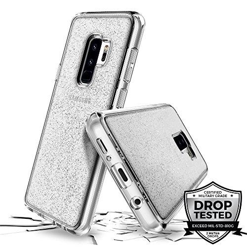 Prodigee [Superstar for Samsung Galaxy S9 Plus case, Clear klar transparent 2 Meter Militär Drop Test Zertifiziert Schutz dünn Hülle Stück dünner dünn funkeln glänzen Glitzern Flakes
