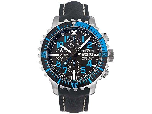 Fortis Orologio per Uomini Marinemaster Blue Cronografo Automatico 671.15.45 L 01
