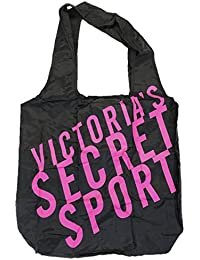Victoria 27s Secret Victoria's Secret VSX Sport Black Tote Travel Gym Yoga Nylon Light Weight Bag With Elastic...