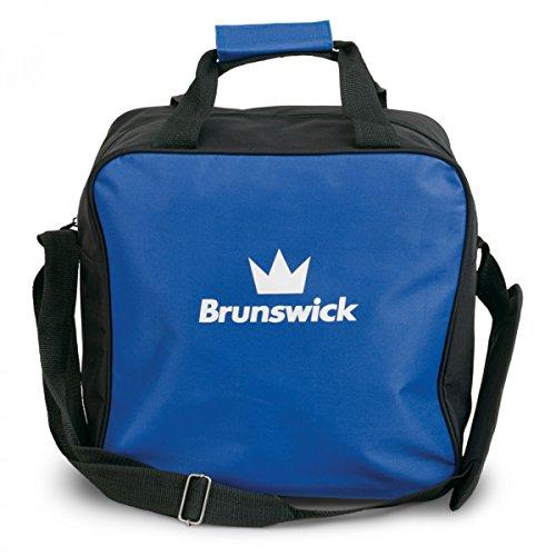 Brunswick TZone Single Tote 1-Ball-Bowling-Tasche für einen Bowlingball, Farbe:Blau (Ball Bowling Amf)