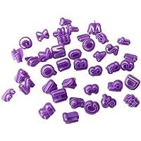 joyliveCY 40pcs alfabeto número carta Fondant Decoración de Pasteles molde Set