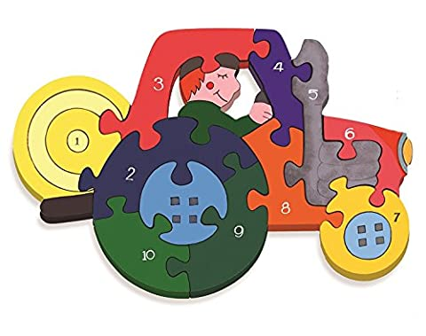 Tractor 1-10 Number Jigsaw Puzzle - Chunky, Bright & Educational