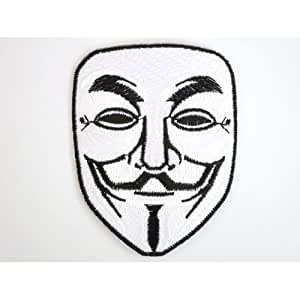 Ecusson brode Vendetta Anonymous Guy Fawkes Mask Patch Iron on Sew Applique Embroidered patchesVendu de R.M.A.