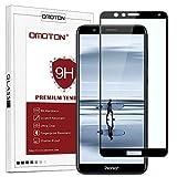 OMOTON Protection D'écran Honor 7X, Film Protection en Verre Trempé Complet [Couverture Complète] [Dureté 9H] [Anti-Rayure] pour Honor 7X, Noir