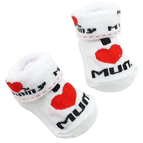 Gemini® Baby Boys Girls Socks Newborn White