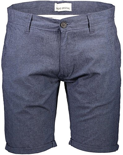 Shine Original Herren Oxford Chino Shorts Blau