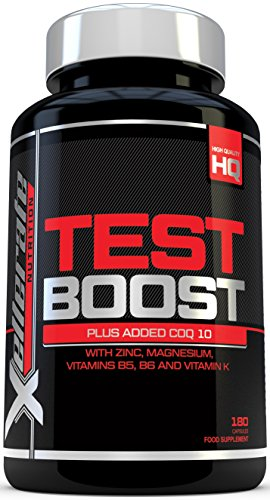Test Boost for Men – 180 Capsules Testosterone Support Supplement – Ingredients Contribute to Normal Testosterone Levels & Reduction in Fatigue | Zinc Level Booster, Magnesium & Maca Root