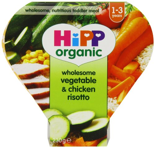Hipp Organic Wholesome Vegetable and Chicken Risotto Tray Meal from 12 Months 230 g (Pack of 5) - Best Price