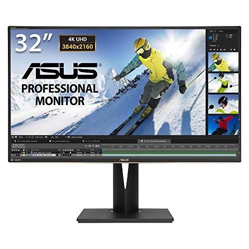 Asus PA329Q 81,28 cm (32 Zoll) Monitor (4K, HDMI, DisplayPort, Mini-DisplayPort, 5ms Reaktionszeit, Bildbearbeitung) schwarz