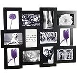"""Bilderrahmen Collage schwarz 10x15 12 Fotos """"Mosaik"""""""