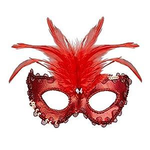 WIDMANN?Máscara Baronessa metalizada Womens, rojo, talla única, vd-wdm04691