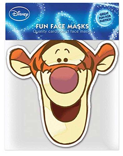 empireposter Winnie The Pooh Tigger - Papp Maske, aus hochwertigem Glanzkarton mit Augenlöchern, Gummiband - Grösse ca. 30x20 (Tigger Pooh Kostüm)