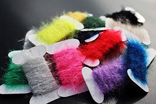 Tigofly 17 Farben insgesamt 170 m Ice Dub Dubbing Faden Schnur Chenille Sparkle Garn Nymphe Bugs Scud Fliegen Body Fliegenbinden Materialien -