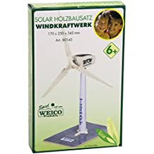 Weico 80145 - Holzbausatz Windrad Solarantrieb