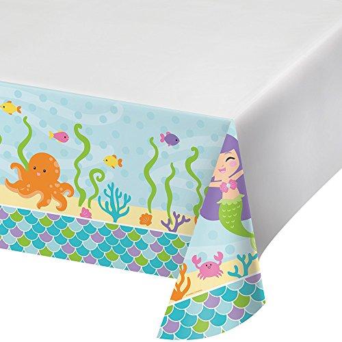 onverting Border Print Kunststoff Tischdecke Zoll, Mermaid Friends, 137,2x 259,1cm ()