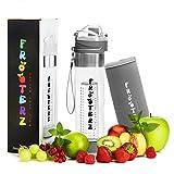 Premium Fruit Infuser Trinkflasche 700ml für Fruchtschorlen mit Thermohülle - BPA frei - LFBG zertifizierte Sportflasche aus Tritan - Auslaufsicher mit Trageschlaufe