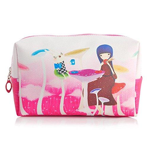 Sac cosmétique grande capacité sac de rangement sac d'embrayage femelle portable imperméable à l'eau mignon sac cosmétique , #2