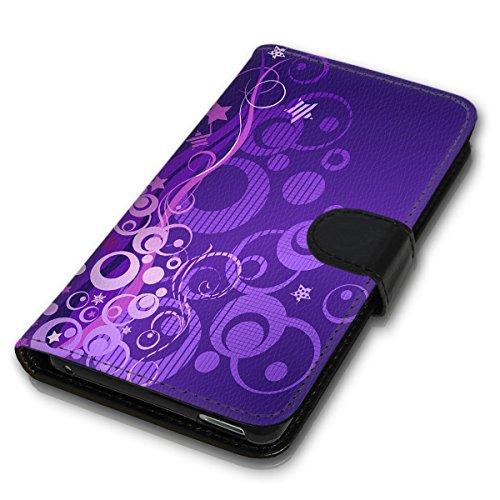 Wallet Book Style Flip Handy Tasche Case Schutz Hülle Schale Motiv Etui für Apple iPhone 4 / 4S - Variante UMV2 Design12 Design 1