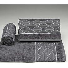 Burrito Blanco - Juego de toallas 168 Gris de 30x50, 50x100 y 70x140 cm